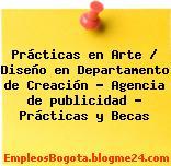 Prácticas en Arte / Diseño en Departamento de Creación – Agencia de publicidad – Prácticas y Becas