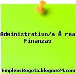 Administrativo/a Área Finanzas
