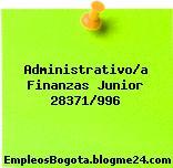 Administrativo/a Finanzas Junior 28371/996
