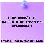 LIMPIADOR/A DE INSTITUTO DE ENSEÑANZA SECUNDARIA
