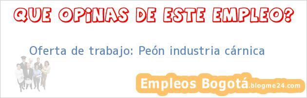 Oferta de trabajo: Peón industria cárnica