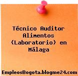 Técnico Auditor Alimentos (Laboratorio) en Málaga