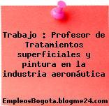 Trabajo : Profesor de Tratamientos superficiales y pintura en la industria aeronáutica