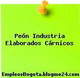 Peón Industria Elaborados Cárnicos