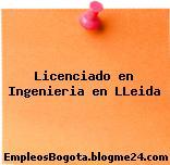 Licenciado en Ingenieria en LLeida
