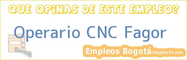 Operario CNC Fagor