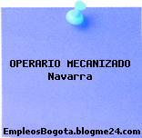 OPERARIO MECANIZADO Navarra