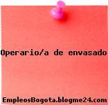 Operario/a de envasado