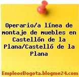 Operario/a línea de montaje de muebles en Castellón de la Plana/Castelló de la Plana