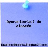 Operarios/as de almacén
