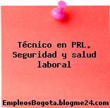 Técnico en PRL. Seguridad y salud laboral