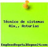 Técnico de sistemas Aix., Asturias