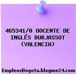 465341/0 DOCENTE DE INGLÉS BURJASSOT (VALENCIA)