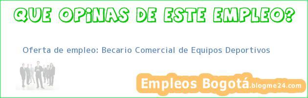 Oferta de empleo: Becario Comercial de Equipos Deportivos
