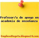 Profesor/a de apoyo en academia de enseñanza