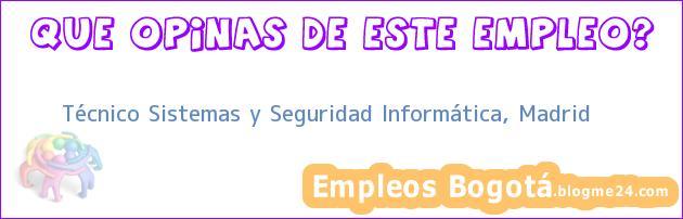 Técnico Sistemas y Seguridad Informática, Madrid