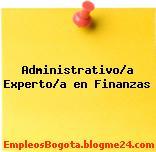 Administrativo/a Experto/a en Finanzas