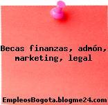 Becas finanzas, admón, marketing, legal