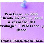 Prácticas en RRHH (Grado en RRLL y RRHH o ciencias del trabajo) – Prácticas y Becas