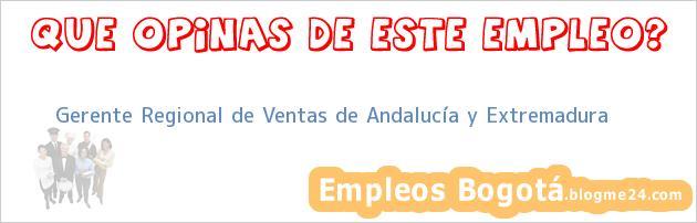 Gerente Regional de Ventas de Andalucía y Extremadura