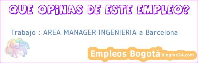 Trabajo : AREA MANAGER INGENIERIA a Barcelona