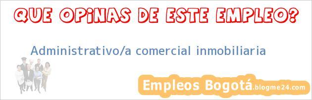 Administrativo/a Comercial Inmobiliaria