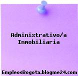 Administrativo/a Inmobiliaria