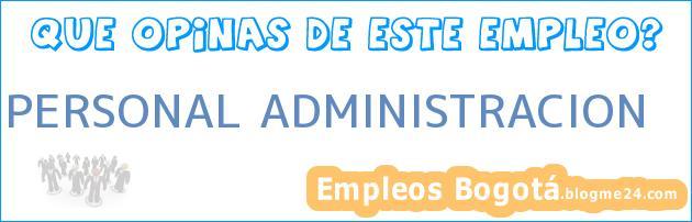 Personal Administración
