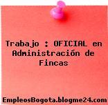 Trabajo : OFICIAL en Administración de Fincas