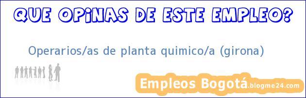 Operarios/as de planta quimico/a (girona)