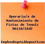 Operario/a de Mantenimiento de Pistas de Tennis 96110/1842