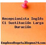 Recepcionista Inglés C1 Sustitución Larga Duración