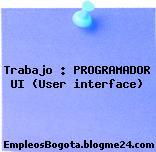 Trabajo : PROGRAMADOR UI (User interface)