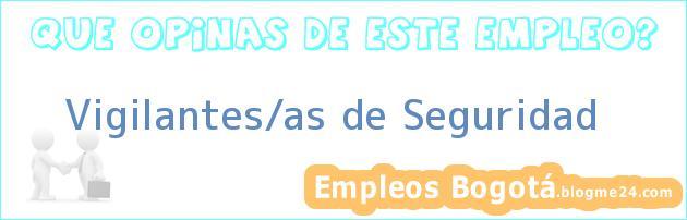 VIGILANTES/AS DE SEGURIDAD